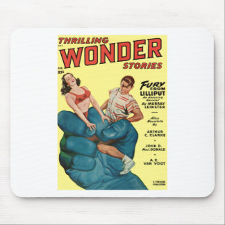 Mousepad Gigante e adolescentes azuis irritados