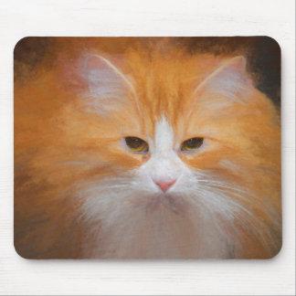 Mousepad Giz macio alaranjado elegante fotografia pintada