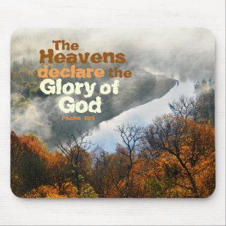 Mousepad Glória do verso da bíblia do 19:1 do salmo do deus