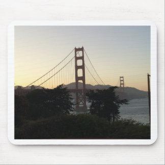Mousepad Golden gate bridge no por do sol
