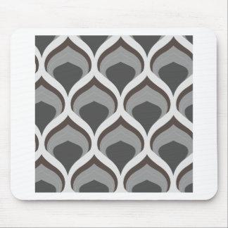 Mousepad gotas geométricas cinzentas