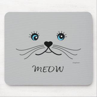 Mousepad Gráfico da cara do MEOW-Gato legal
