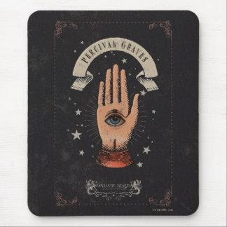 Mousepad Gráfico mágico da mão das sepulturas de Percival