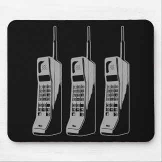Mousepad Gráfico retro do telefone móvel