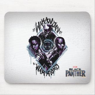 Mousepad Grafites dos guerreiros da pantera preta |