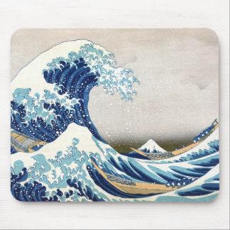 Mousepad Grande onda fora das belas artes do japonês de