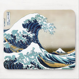 Mousepad Grande onda restaurada fora de Kanagawa por