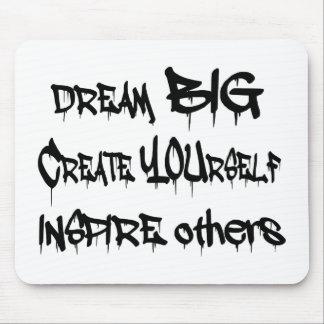Mousepad Grandes ideais criam-se inspiram outro pretos