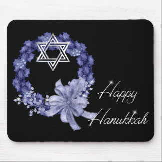 Mousepad Grinalda de Hanukkah & estrela azuis felizes