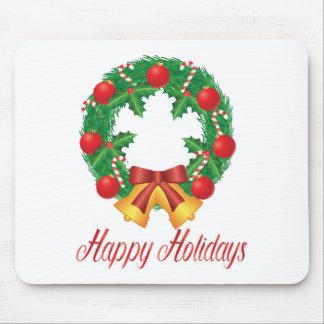 Mousepad Grinalda do Natal com ornamento Bels e doces