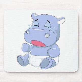 Mousepad Grito do hipopótamo do bebê