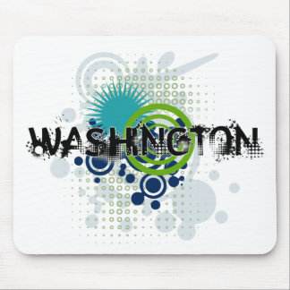 Mousepad Grunge moderno Washington de intervalo mínimo
