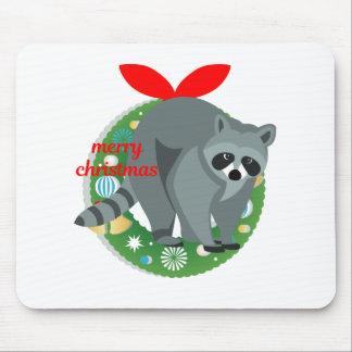 Mousepad guaxinim do Feliz Natal