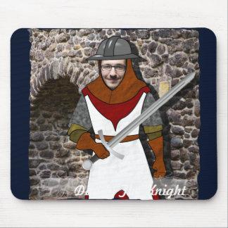 Mousepad Guerreiro medieval do cavaleiro - com SUA foto -