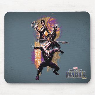 Mousepad Guerreiros da pantera preta | Wakandan pintados