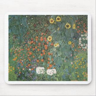 Mousepad Gustavo Klimt - flores dos girassóis do jardim do