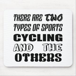 Mousepad Há dois tipos de ciclagem e de outro dos esportes
