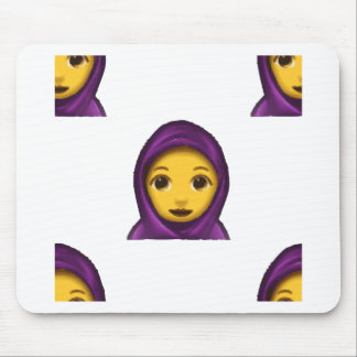 Mousepad hajib do emoji