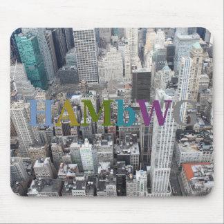 Mousepad HAMbWG - cidade Scape - cinzas