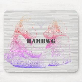 Mousepad HAMbWG - rato do computador - amor do urso de