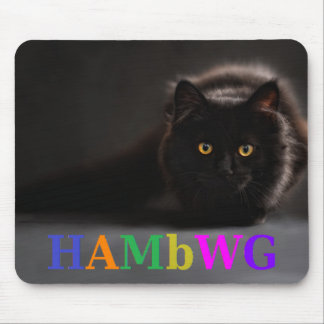 Mousepad HAMbWG - tapete do rato - logotipo de w do gato