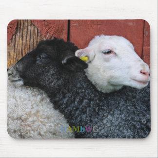 Mousepad HAMbyWG - tapete do rato dos carneiros brancos das