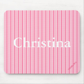 Mousepad HAMbyWG - tapete do rato - listra cor-de-rosa