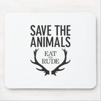 Mousepad Hannibal Lecter - coma o rude (salvar os animais)