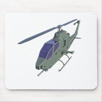 Mousepad Helicóptero de Apache na vista dianteira