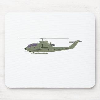 Mousepad Helicóptero de Apache no perfil da vista lateral