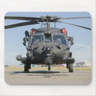 Mousepad Helicóptero preto das operações especiais do