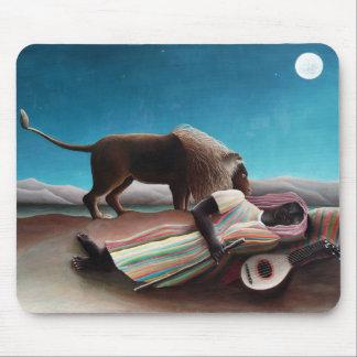Mousepad Henri Rousseau o vintage aciganado do sono