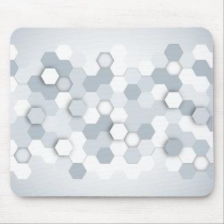 Mousepad Hexágonos cinzentos/azuis abstratos