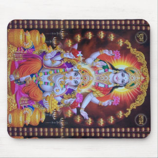 Mousepad hindus colorido do ganesh do saraswati