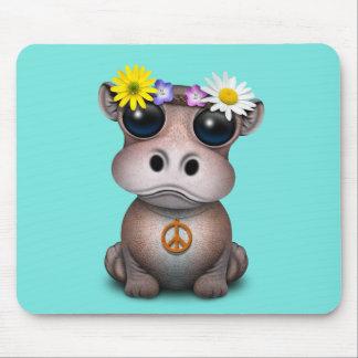 Mousepad Hippie bonito do hipopótamo do bebê