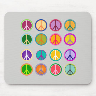 Mousepad Hippie Popart do sinal de paz, 70, 1970