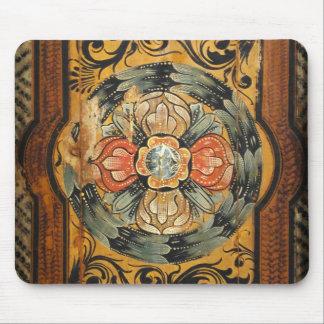 Mousepad hist gótico velho do vintage de madeira medieval