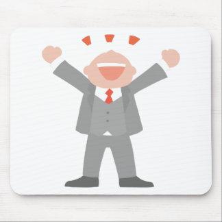 Mousepad Homem de negócio ectático