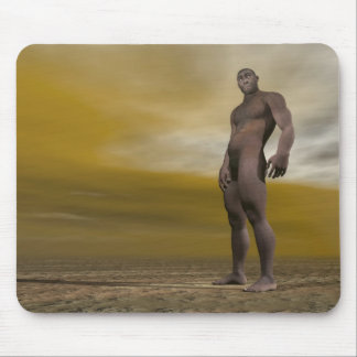 Mousepad Homo erectus masculino - 3D rendem