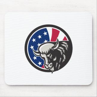 Mousepad Ícone americano da bandeira dos EUA do búfalo