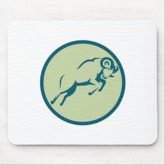 Mousepad Ícone de salto do círculo dos carneiros de