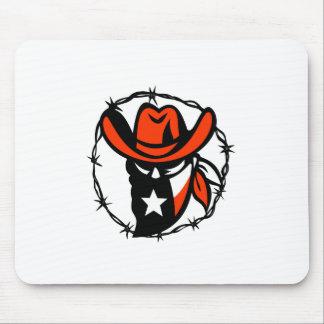 Mousepad Ícone foragido do fio de Barb da bandeira de Texas