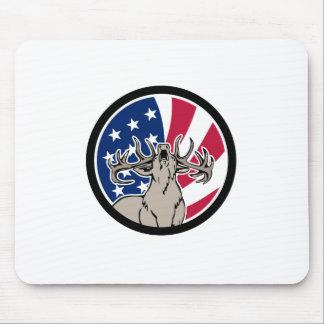Mousepad Ícone norte-americano da bandeira dos EUA dos