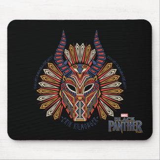 Mousepad Ícone tribal preto da máscara da pantera | Erik