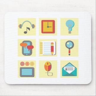 Mousepad ícones lisos