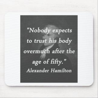 Mousepad Idade de cinqüênta - Alexander Hamilton