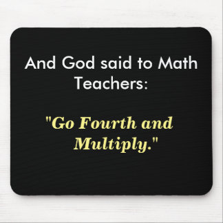Mousepad Ideia do presente do professor de matemática -