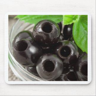 Mousepad Ideia macro detalhada das azeitonas pretas