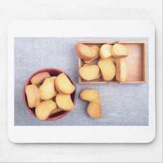 Mousepad Ideia superior das partes de pão secado