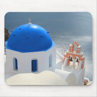 Mousepad Igreja de Santorini na tarde Sun